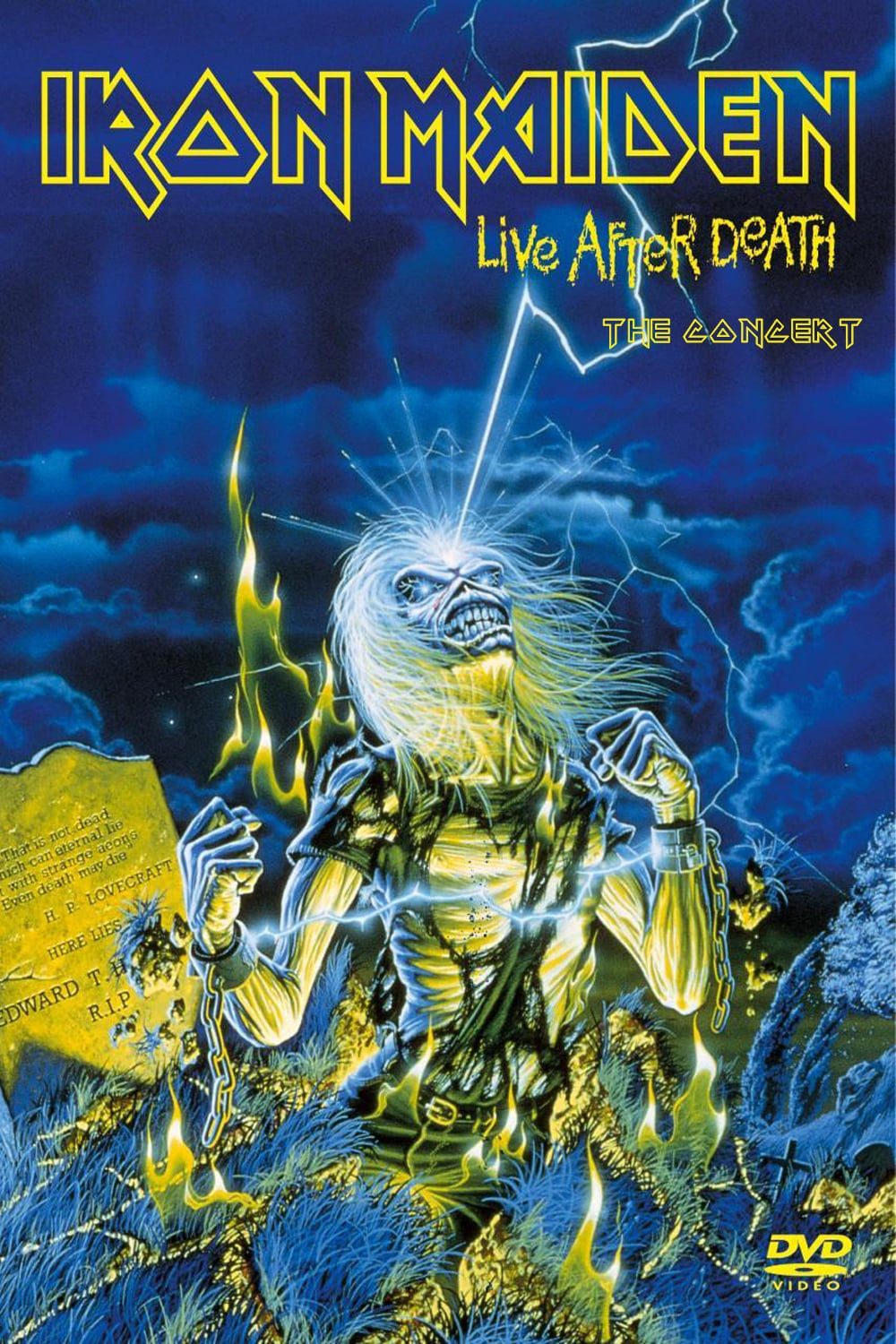 """Poster for the movie """"Iron Maiden: Live After Death"""""""