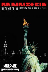 """Poster for the movie """"Rammstein: In Amerika - Live from Madison Square Garden"""""""