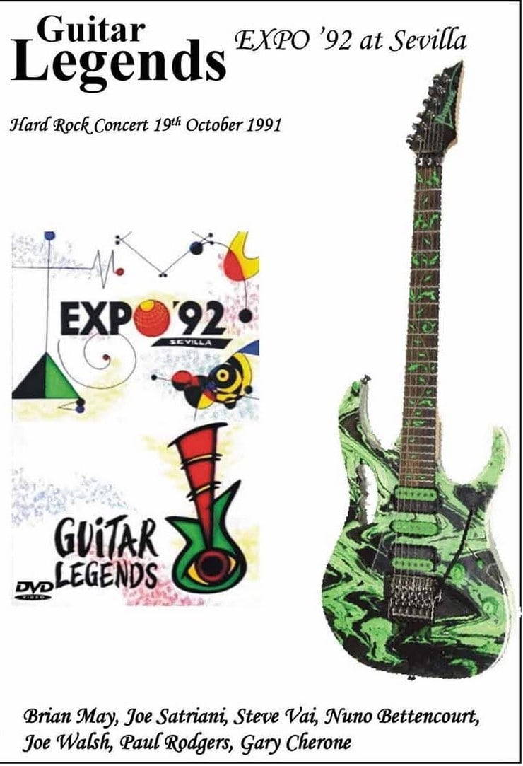 """Poster for the movie """"Guitar Legends EXPO '92 at Sevilla - The Hard Rock Night"""""""
